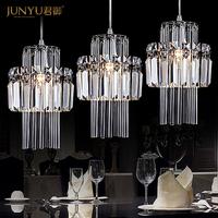 Free Shipping 3 Lights High Quaity K9 Crystal Modern Pendant Light For Dinner Room 110-240V Voltage