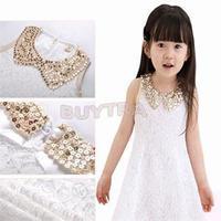 2014 New Desiner Cute Children's Clothes/High quality Lovely Girls' Dresses/Summer Party Girl Dress Black White