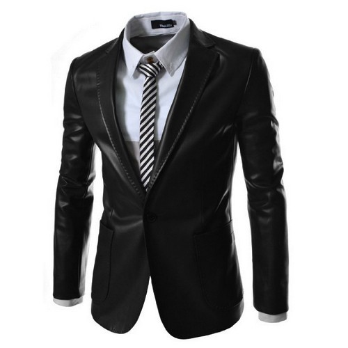 new arrival fashion leather men blazer high quality. Black Bedroom Furniture Sets. Home Design Ideas