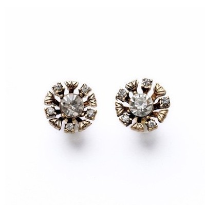 Promotion 2014 Fashion Crystal Earrings New Styles Fashion Jewelry Elegant Antique Res