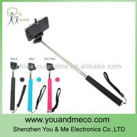 100sets (100pcs monopod &100pcs clip holder) Z07-1 Portable Self Timer Handheld Monopod for Camera and phone Universal Clip