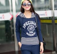 Wholesale autumn tracksuit for women promotion sports wear comfortable sport suit brand track suit female jogging suits 3 pieces