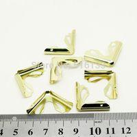 Free Shipping 100pcs/lot 22.5x22.5x6mm Gold Plated Book Scrapbooking Albums Menus Folders Collar Corner Protectors