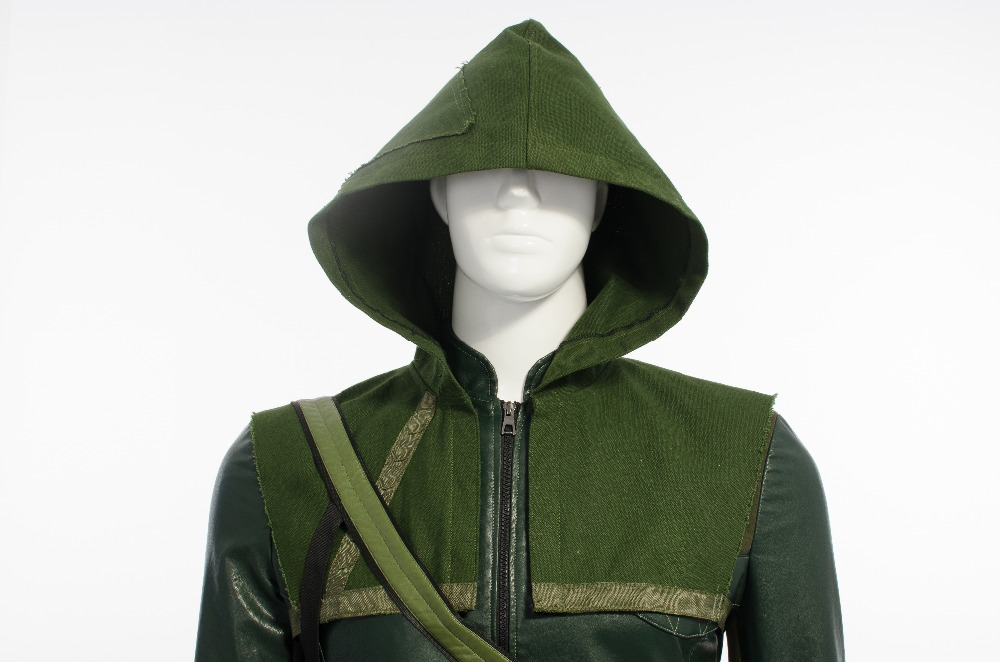 Green Arrow Costume Cosplay 2014 New Hot Green Arrow Oliver Cosplay Costume Suits Outfits Party