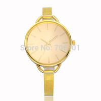 New Arrival Fashion Stainless Steel Watch Women Dress Watch Golden Quartz Watch 1piece/lot BW-SB-760