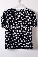 2014 women Easy Geo Chiffon Top, summer T shirt , free shipping