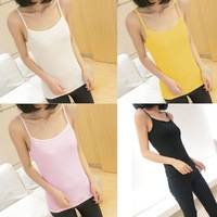 Women Lady Plain Cotton Spaghetti Strap Top Camisole Tank Vest Singlet Waistcoat Hot 71891-71894
