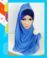 (free shipping)new muslim chiffon shawls muslim hijab ,200*75cm mixed colors popular in the world