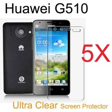 5pcs Android Phone Ultra-Clear LCD Film.Huawei Ascend G510 U8951 T8951 Screen Protector Guard Cover Film For Huawei T8951