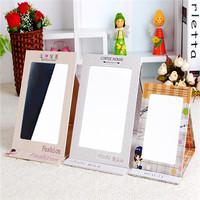 Korean Style in folding beauty portable makeup mirrors  light pocket desktop brand mirror  cute portable school girl mirrors