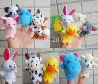 Free Shipping Cartoon Animal Finger Puppet /Finger toy//finger doll baby Toys Animal doll 20pcs/lot (10pcs/bag) SW052