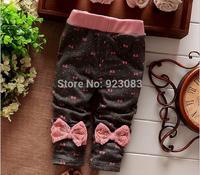 2014 new Autumn and winter baby girls bow pants / fantasia infantil atacado roupas infantil girls winter trousers 5pcs/lot