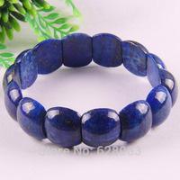 "Free shipping Nature Lapis Lazuli Beads Bracelet 8"" Jewelry G422"
