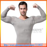 Free Shipping Zerobodys Comfortable Men'S Body Slimming Camisole Shaper Long Sleeve Shapewear 50pcs/Lot