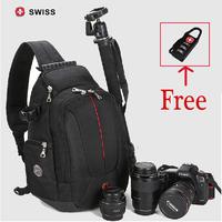 High quality SWISSGEAR SLR camera bag (rain cover) camera backpack Professional photography bag