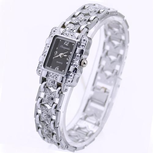 1PC Black Hot Sale Women Ladies Girls Fashion Casual Dress Charming Crystal Diamond Analog Quartz Bracelet Wrist Hand Watches(China (Mainland))