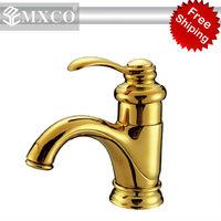 Free shipping M05J basin mixer   bathroom faucet  classical faucet gold plated mixer M05J