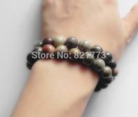 2pcs. 10mm natural silver-mist stone elastic bracelet