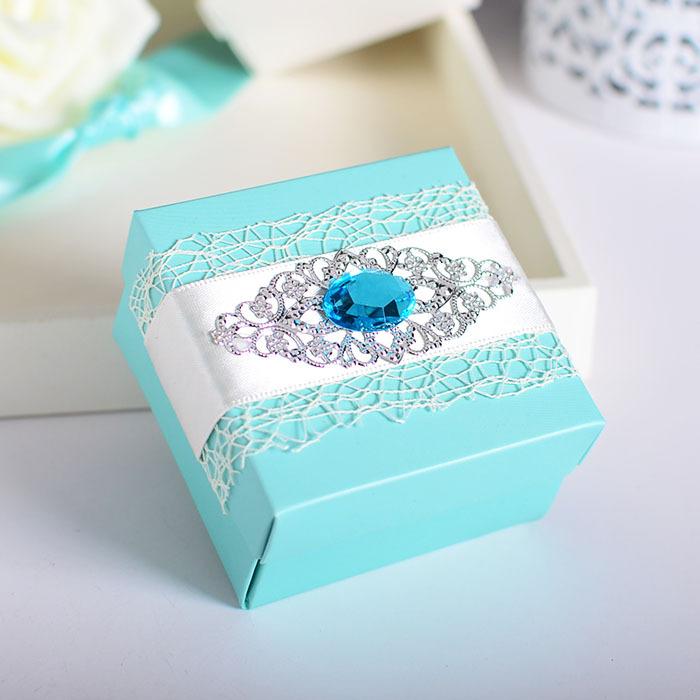 Sky Blue & Pink wedding Candy box(China (Mainland))
