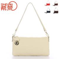 First layer of cowhide women's handbag anti-theft lock function bag shoulder bag messenger bag genuine leather female