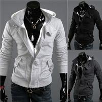 2014 Free Shipping Autumn and Winter Wear Zipper Men's Cardigans Casual Hoodies TSP1548