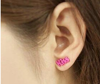 free shipping E342 small accessories candy color kiss stud earring