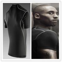 Mens t shirts football/basketball fitness pro combat training tops short-sleeve sports underwear elastic slim bodybuild t-shirt