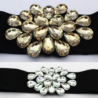 New Ms han edition fashion crystal Mosaic fashion joker wide waist belt