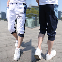2014 summer male capris men's clothing casual sports large pocket harem capris pants male