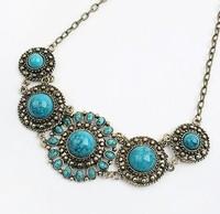 YXSP272       2014 new fashion  Bohemian Retro sunflowers   necklace for women
