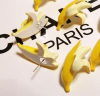 2014 New Fashion  Japan  Style Ladies Banana Shaped Stud Earrings