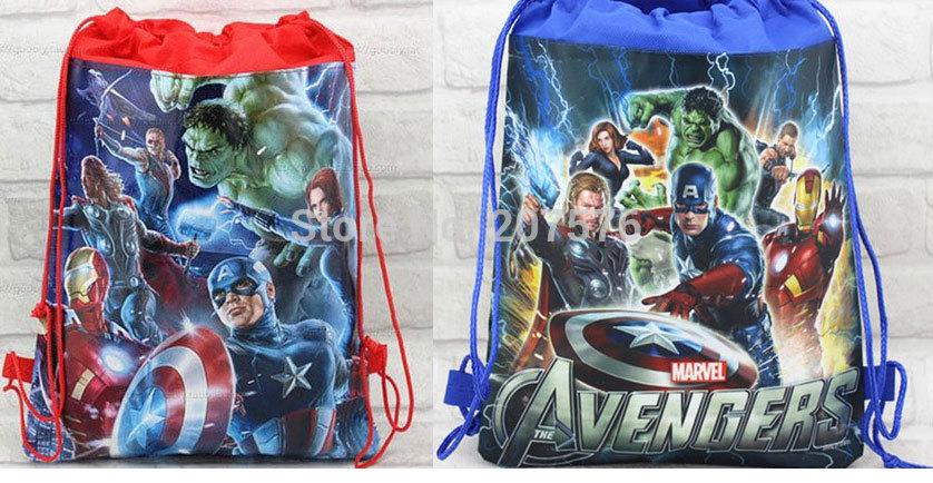 Avenger Designs Non-woven Material Kids/Children Cute/Cartoon Handbags Bag/Shoes Bag, 24 pcs/lot(China (Mainland))