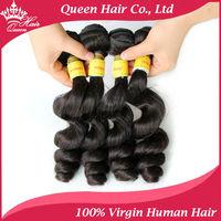 Queen Hair Products Virgin Unprocessed AAAAAA Peruvian Hair Human Hair Weave Wavy Peruvian Virgin Hair Loose Wave 4 pcs lot