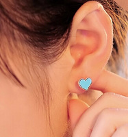 free shipping E137 accessories paint heart stud earring sweet all-match earring