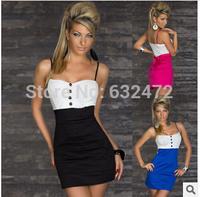 Free shipping summer dress 2014 Slim sexy Sling Tube Top nightclub dresses club clothing party evening dress
