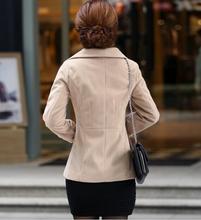 European and American women s 2014 new winter coat lapel wool coat large size women s