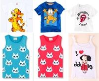 1PCS Children T-shirt Clothes Boys Girls Summer Vest Fashion Children Cartoon Short Sleeve Shirts Top kids Free Shipping