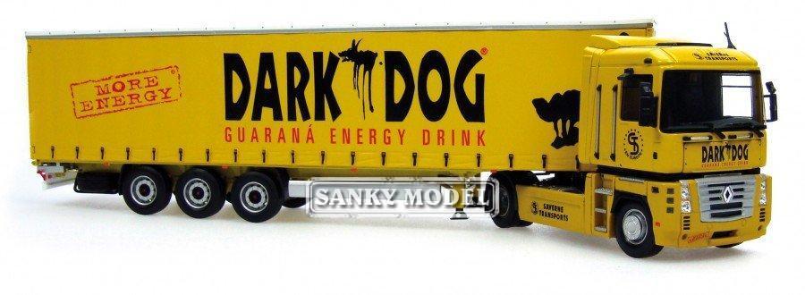 "Renault Magnum + Krone ""Dark Dog"" trailer & Keyring trailer(China (Mainland))"