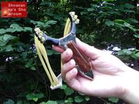 super cool designer multi-strand metal slingshot for hunting, exercising,  unique hunting tool for outdoor games