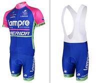 2014 Lampre Merida cycling clothing +cycling bib shorts set new 2014 cycling clothing/jersey bib shorts