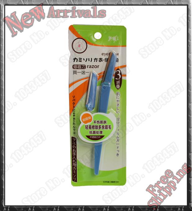 Professional makeup Stainless steel eyebrow knife make up eye brow knife blade hair eyebrow comb 6 pcs\lots SB5403(China (Mainland))