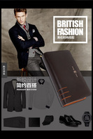 2014 new, real leather hand bag, men's fashion business hand bag.