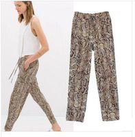 2014 new European style leopard print loose long pants casual pants drape