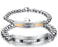 His or Hers Matching Set Couple Titanium Magnetic Bracelet Anti-fatigue Anti-radiation One pair