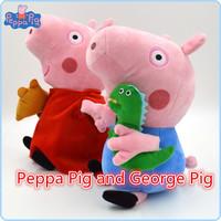 2pcs/set Hot Sale 19cm Peppa Pig Pepa George Plush Kids Toy Baby Stuffed Animals Dolls Children Gift
