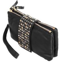 venta caliente nuevo 2014 llegar diseñador remache pu de cuero de moda las mujeres bolsa de embrague noche día bolsa monedero embrague bolsas bolso(China (Mainland))