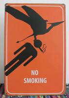 Wholesale No Smoking slogan Metal craft wall Art Home Cafe Vintage Iron/Metal Paintings M-76