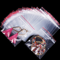 Free Shipping 100Pcs Self Sealing Zip Lock Plastic Bags 8.5x6cm/packaging bags Wholesale