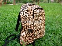 Fashion hip hop street Leopard Backpacks+ Big Beard Printing Backpack Women School Backpacks Leopard Backpacks causal bag