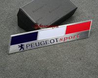 New arrive for VOLKSWAGEN Motorsport / PEUGEOT SPORT aluminum 3D Badge Emblem car sticker 130mm*25mm good quality